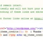 Как убрать копирайты из шаблонов WordPress