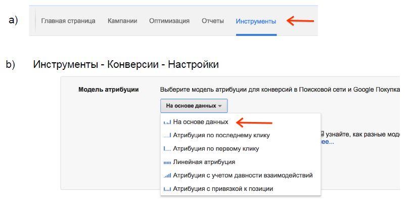 Как перейти на Data-Driven атрибуцию в Google AdWords
